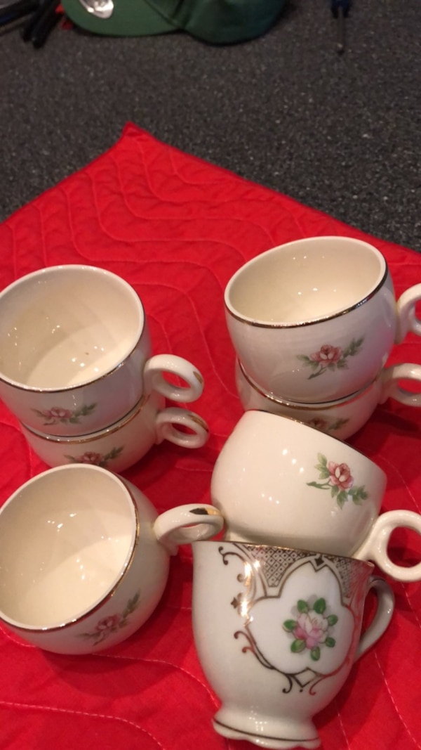 Antique expresso cups  6 ::: 1 cup made occupied Japan