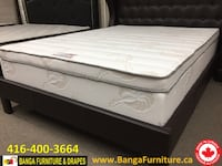 white and black mattress with box spring Mississauga