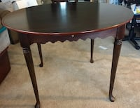 Round mahogany Bombay Co Table Mount Airy, 21771