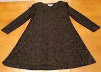 Ladies Size 16 Black Spandex Party Dress  Dover