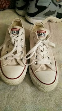 pair of white Converse All Star low-top sneakers San Jose, 95116