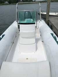 white and blue boat trailer Holtsville, 11742