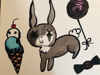 bunny art painting canvas Vancouver, V6B 2R5
