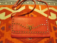 BRAND NEW STUDDED RED LEATHER PURSE CALGARY