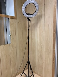 """14"""" ring light with light stand and diffuser"""