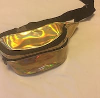 Gold holographic Fanny pack Washington