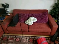 red fabric 2-seat sofa Kitchener, N2G 2S3