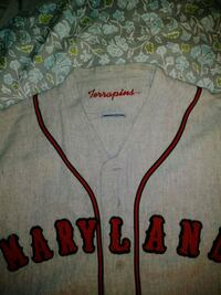 Old school MARYLAND THROWBACK BASEBALL JERSEY  75 km
