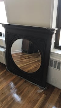 Square brown wood-framed mirror brand new never used  New York, 11364