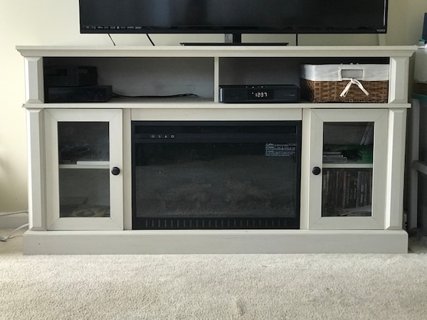 TV STAND WITH ELECTRIC FIREPLACE INSTALLED 1f4afc5a-2d08-4d62-946f-7eb0c9012649