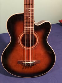Ibanez acoustic electric bass guitar