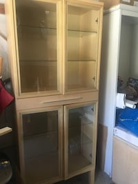 Wooden framed glass display cabinet Toronto