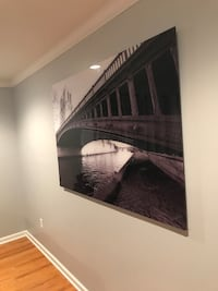 black concrete bridge painting