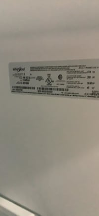 """New 33""""Whirlpool stainless steel refrigerator with ice and water Essex"""
