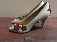 Pair Marc by Marc Jacobs 4th of July white-and-red leather pumps Toronto, M4V 2H3