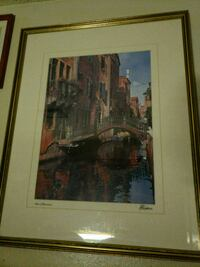 brown wooden framed painting of house Las Vegas, 89102