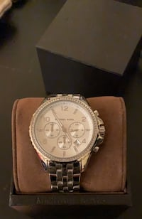 Silver Michael Kors Watch Vaughan