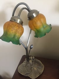 two green and brown ceramic table lamps Riverside, 92503