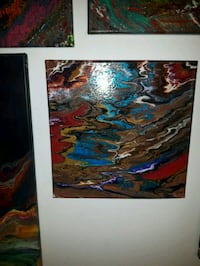 brown, blue, and red abstract painting Edmonton, T5B 3H7