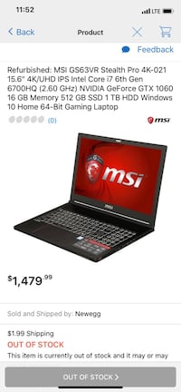 Msi gaming laptop Alexandria, 22312
