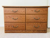 brown wooden 6-drawer lowboy dresser Silver Spring, 20910