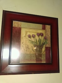 painting of purple flowers with brown wooden frame Johnson City, 37604