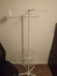 white steel stand