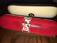 Red and white beats portable speaker