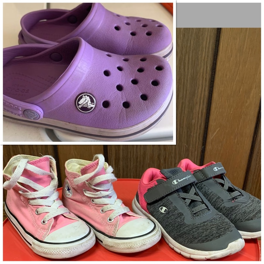 Photo Toddler girl Converse , Crocs , & champions shoes size 8 & 9