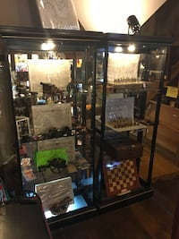 Lighted display cases with doors (currently removed)One is SOLD 61 mi