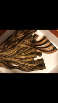 Human hair Extensions $200 two packs together use only  bag and a half for only one day for a weeding  cost me like 600 dls for both bags ( two sets )  Ridgefield, 98642