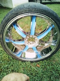 24 inch chrome rims with tires Fayetteville, 37334