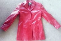Womans Danier Leather Coat - Red - Size Small   Calgary, T3B 5H5
