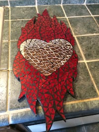 red and black floral textile