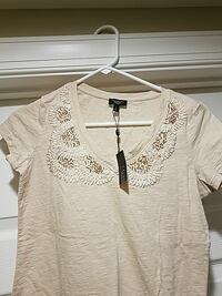 Talbots Bedazzled Taupe shirt with Tags, Petite  Woodbridge, 22192