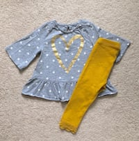 Old Navy top and leggings size 18-24 months- worn once 535 km