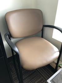 white and black leather armchair Brossard, J4Y 3G8