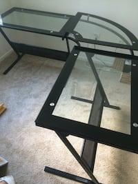 Black metal framed glass top table San Diego, 92122
