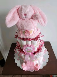 Diaper Cake for Baby Girl,  Bunny, ready to sell!