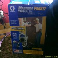 black and blue Bissell upright vacuum cleaner box Fresno, 93704