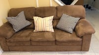 Brown suede couch/sofa Hyattsville, 20781