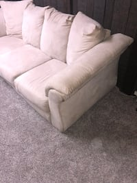 Beautiful white suede couch!  Hamilton, L8T 4N6