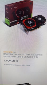 Msi Gtx 1050 Ti Gaming X 4 Gb Ptt Mahallesi