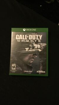 Call of Duty Ghosts Xbox One game case Whitewater city, 53190