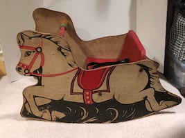1950's Childs Sit in Rocking Horse.