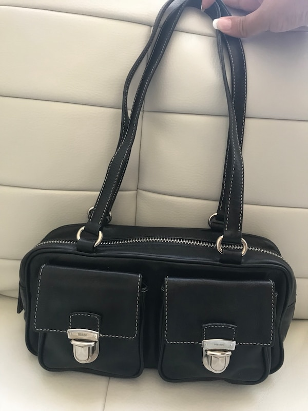 Authentic Small Prada Leather Handbag