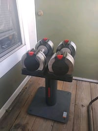 Adjuatable Dumbbells with stand  Alexandria