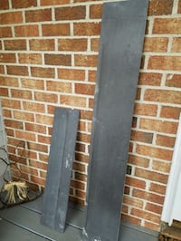 Two pieces of gray slate.