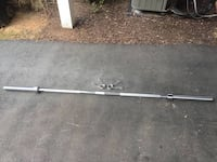 Like New 7 Foot Olympic Bar with Clamps