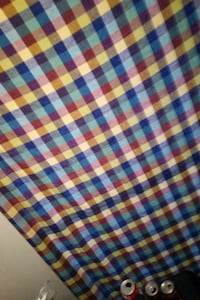 white, blue, and red plaid textile Longview, 75602